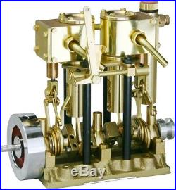 2 Cylinder Steam Engine for Model Ship Marine Boat SAITO T2DR From Japan F/S NEW