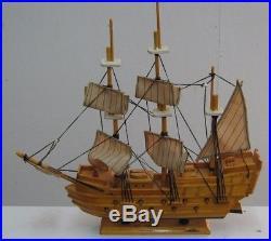 (3) Wood Model Ships Nice Nautical Decor For Shelves Or Wall HMS Victory Ship