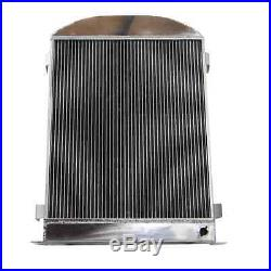4 Rows Aluminum Radiator for 1932 Ford Stock Height with Flathead V8 USA FAST SHIP