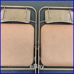 4 Vintage Samsonite Padded Folding Chairs Model 6883 I WILL SHIP EMAIL FOR PRICE