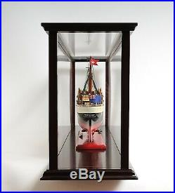 45 LARGE DISPLAY CASE for Collectable Ship Yacht Boat Models Wood & Plexiglass