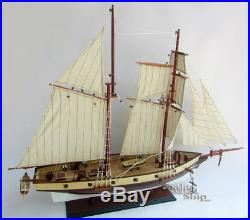 America's Privateer Lynx 1812 Topsail Schooner Tall Ship Model Ready for Display