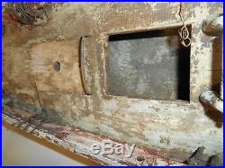 Antique Hand Crafted Large Wood Model Sailing Ship for Restoration