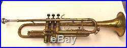 Antique Vega Chase George Model Trumpet For Parts Or Repair (free Shipping)