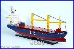 BBC Break Bulk Cargo Ship 40 Handmade Wooden Model HO Scale