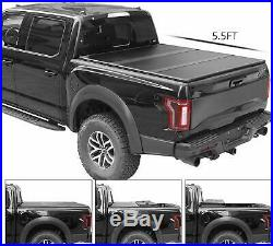 Bed Tonneau Cover Truck 5.5FT Hard 3-Fold For 15-19 Ford F-150 FREE SHIPPING
