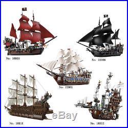 Building Bricks Pirates of the Caribbean Ship Model block Toys For kid Xmas Gift