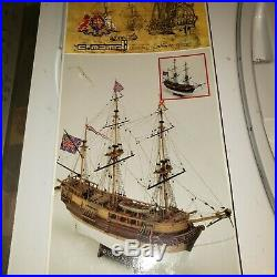 C. Mamoli H. M. S Beagle Darwin's ship wooden model kit NOT COMPLETE FOR PARTS
