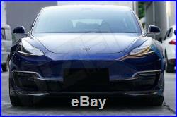 Carbon Fiber Fibre Lower Front Splitter Lip for Tesla Model 3 FREE SHIPPING