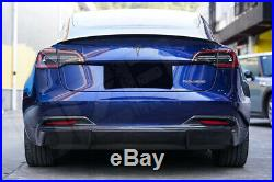 Carbon Fiber Fibre Rear Diffuser Valance for Tesla Model 3 FREE GLOBAL SHIPPING