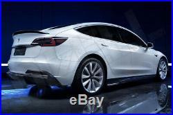 Carbon Fiber Fibre Rear Spoiler Wing for Tesla Model 3 FREE GLOBAL SHIPPING -T1