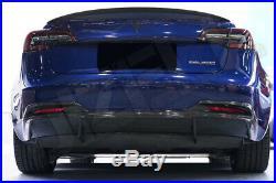 Carbon Fiber Fibre Rear Spoiler Wing for Tesla Model 3 FREE GLOBAL SHIPPING -T2