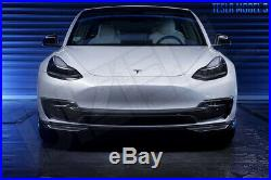 Carbon Fiber Fibre Upper Front Splitter Lip for Tesla Model 3 FREE SHIPPING