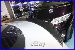 Carbon fiber rear trunk spoiler twin fin ships design fit for Tesla Model S