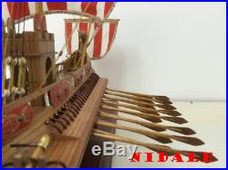 Classic wooden Sail boat model kit Scale 1/50 ancient Rome ship DIY for adults