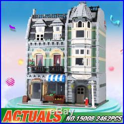 DHL Shipping 2462Pcs City Street Green Grocer Model Building Blocks For Kids Fun