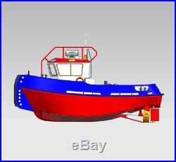 Damen stan tug 1205 Scale 1/35 370 MM Model ship kit for RC model
