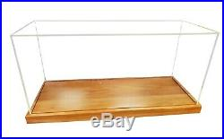 Display Case Wooden Cabinet Acrylic Glass 27.75 For Midsize Boats Ships Models