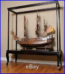 Display Case for Extra Large Ship Models (NO Glass) L 65 W 23 H 75 Inches