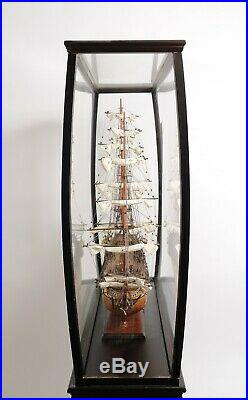 Floor DISPLAY STAND CASE for Large Collectibles Ship Yacht Boat Model Decor Wood