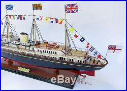 HM Royal Yacht Britannia Wooden Ship Model Ready for Display