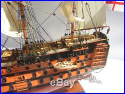 HMS Victory Wooden Ship Model 30 Ready for Display
