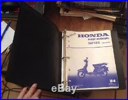 HONDA Shop Manual NH125 Aero125 1983 for 1984 Model RARE Free US Shipping LOOK