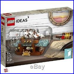 LEGO Ideas Model Ship In A Bottle Expert Building Kit Toy For Adults New