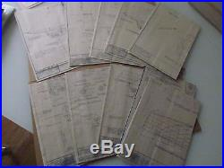 Lot 11 X Working Plan For Sailing Ship Models By Harold A Underhill 11 Pcs