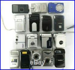 Lot of 16 Digital Cameras Various Models For Parts Free Shipping