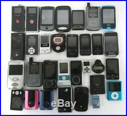 Lot of 31 MP3 Players Mixed Brands and Models For Parts Only Free Shipping
