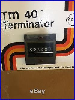 Molex TM 40 TERMINATOR (Model TM40D) see description for shipping information