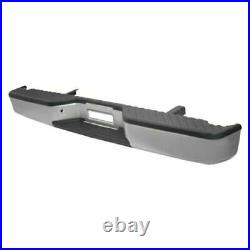 NEW Complete Silver Rear Step Bumper For 2004-2015 Nissan Titan SHIPS TODAY
