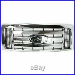 NEW Grille For 2009-2012 F-150 XLT Chrome Shell Black Insert SHIPS TODAY