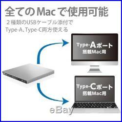NEW Logitec Blu-Ray Disc Drive For Mac Type-C Model Usb3.0 Slim Fast Shipping
