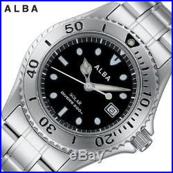 New ALBA Wrist Watch Standard Solar Model AEFD529 for Mens Free Shipping Japan