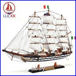 New AMERIGO VESPUCCI Wooden Assembly Ship Model Sailboat Miniature For Home Deco