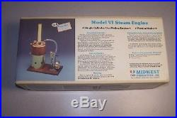 Nos Midwest Model VI Steam Engine And Boiler Kit No 980 For Model Ship Boat