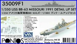 PONTOS 350091 1/350 USS Missouri BB63 1991 Detail Set for TAMIYA Model FREE SHIP