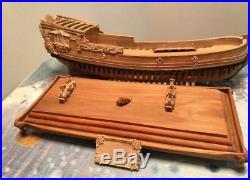 Pear Wood Carving Ship base for Model Ship Kit 15 length for 800 mm ship