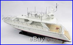 Princess 60 Handcrafted Model Yacht Ready for Display