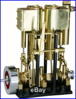 SAITO Steam engine for model ship marine boat T2DR-L Two-cylinder Long stroke