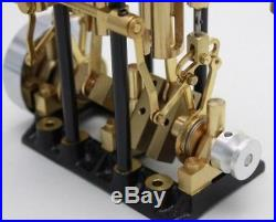 SAITO T2DR-L Steam Engine For Model Ship Marine Boat Two-cylinder, Long stroke