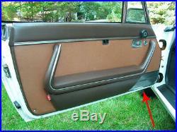 Satz Türverkleidung Abdeckung Original Peugeot 504 Cabrio Coupe Verchromt Re LI