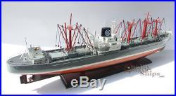 Seine Lloyd Handcrafted Cargo Ship Model Ready for Display