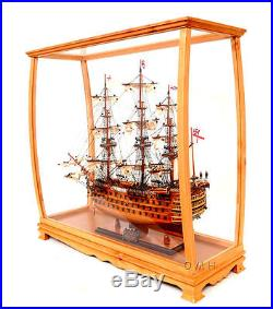 ship model display case 36 wood and plexiglass cabinet for midsize tall ship
