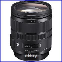 Sigma 24-70mm f/2.8 DG OS HSM Art Lens for Nikon F USA Model USA Fast Ship