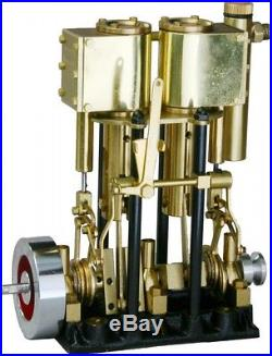 T2DR-L SAITO Steam Engine for Model Ship Marine Boat Two-Cylinder Long Stroke