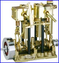 T2DR SAITO Steam engine for model ship Two-cylinder, Short stroke from japan