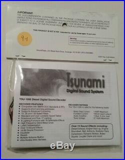 TSUNAMI SOUNDTRAXX 827114 DECODER for GE GTEL, Model TSU-1000 FREE SHIP 9-1